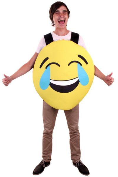 Emoticon Smiley lachend kostuum Imoji