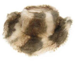 Pim hoed wolf-bont plat model