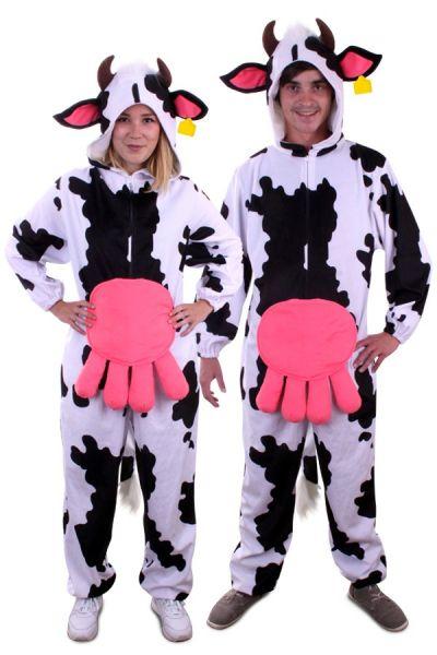 Dierenkostuum Koe pluche met grote koeienuiers