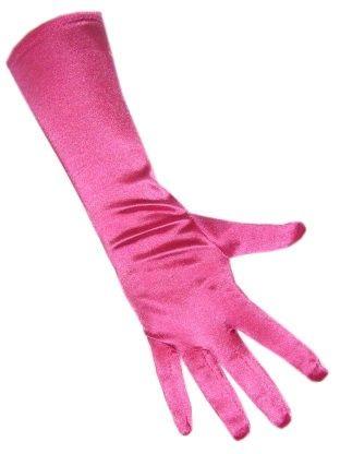 Handschoenen satijn stretch luxe pretty in pink
