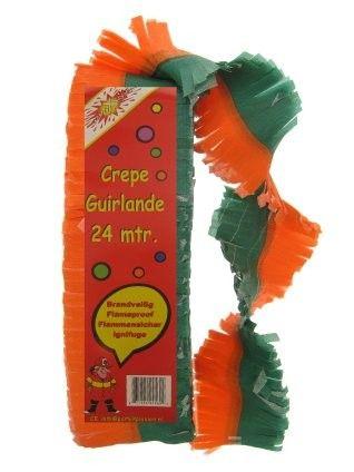 Kruikenstad Crepe Guirlande brandveilig Oranje groen