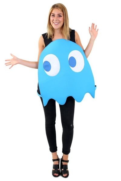Emoticon blauw spookje kostuum Imoji