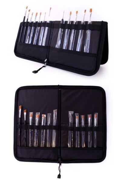 Face Paint Brush case 44 x 37 cm with 15 schmink brushes