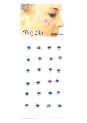 Fancy gezicht body jewel puntje zilver