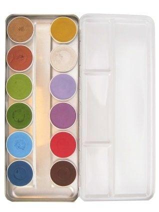 Superstar facepaint palet basic 12 colors + fairy tales 12 colors