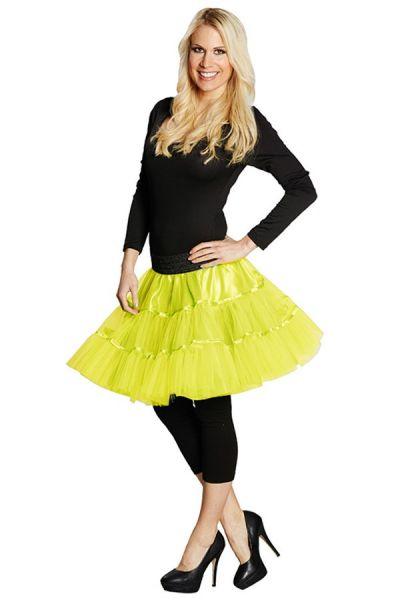 Petticoat fluor geel dames