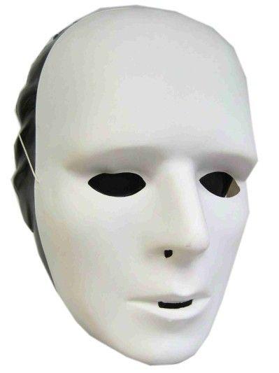 Grimeer maskers wit plastic