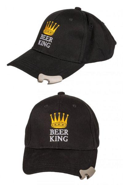 Baseball pet met flesopener Beer King