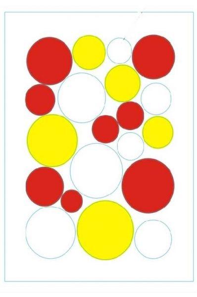 Raamstikker confettisnippers rood/wit/geel