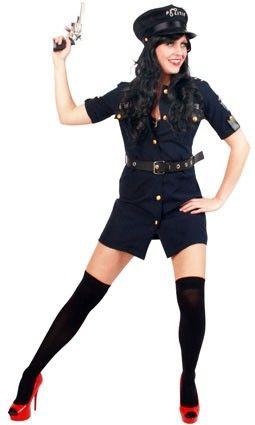Sexy Police jurkje blauw