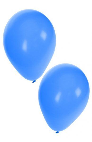 Blauwe heliumballonnen