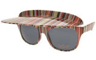 Grappige bril gekleurde-strepen met luifel