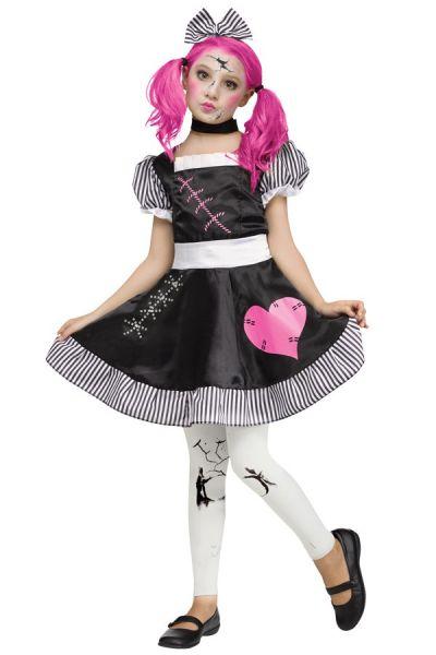 Gebroken porseleinen poppenjurkje meisje
