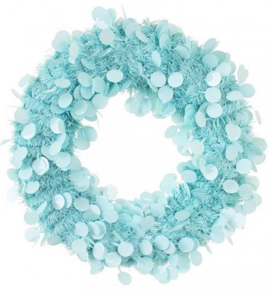Deurkrans 45 cm Blauw