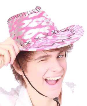 Cowboyhoed torro zilver pink gevlekt