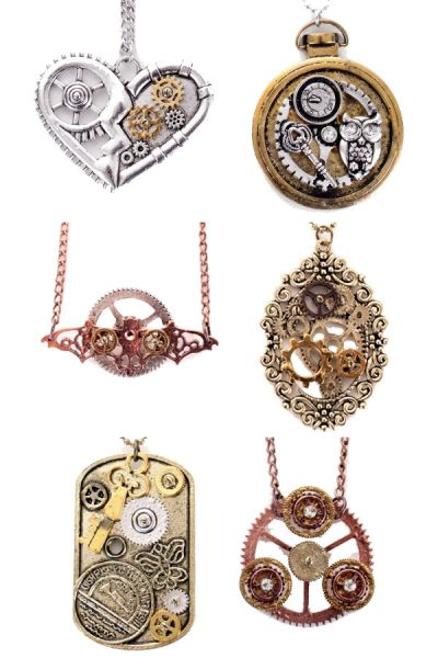 6 Steampunk kettingen