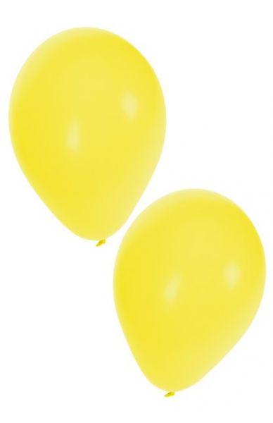 Gele heliumballonnen