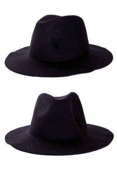 Cowboy flap hoed zwart