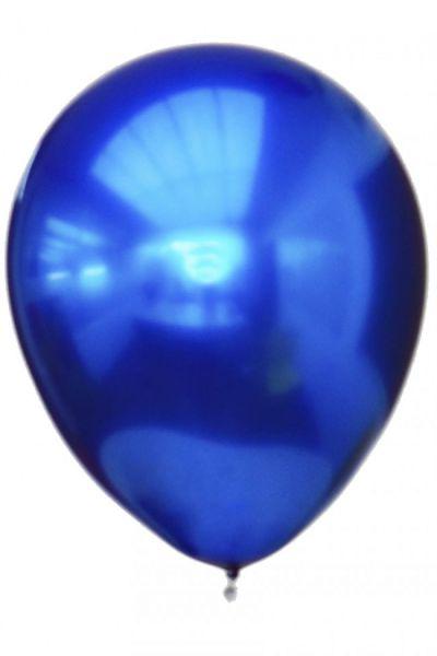 Blauwe titanium chrome ballonnen