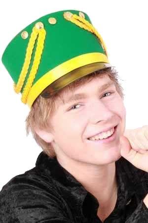 Kolbak hoed rood geel groen