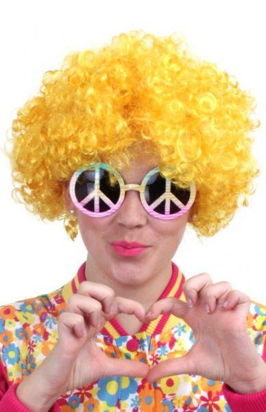 Hippie Pruik geel