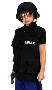 Carnavalskleding S.W.A.T. vest kind