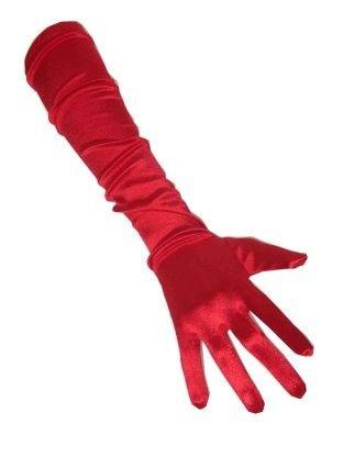 Rode satijnen handschoenen