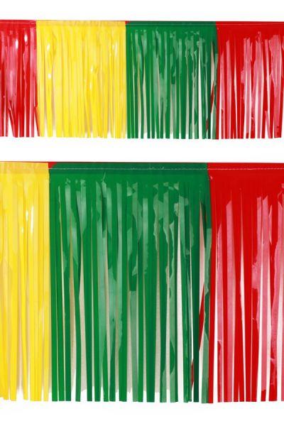 PVC slierten folie guirlande rood geel groen carnaval