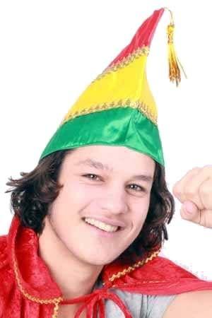 Prinsenmuts carnavals rood geel groen