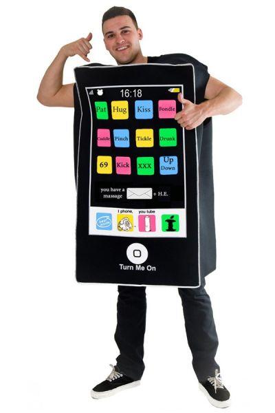 Vrijgezellen outfit kleding Telefoon kostuum pak
