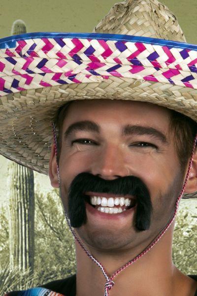 Mexicaanse snor zwart