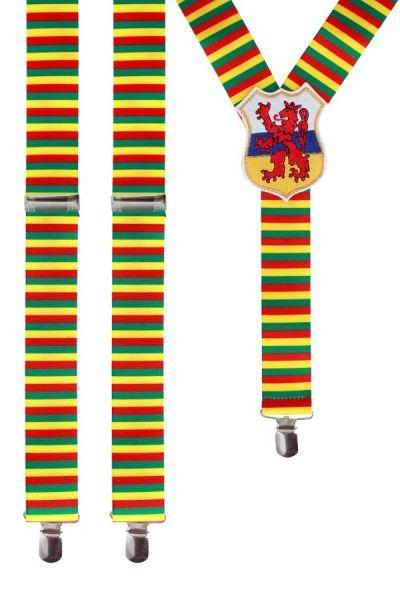 Bretels rood geel groen met wapen van Limburg