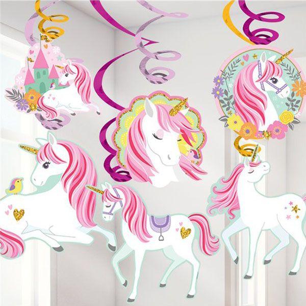 Swirl Decoratie Unicorn Eenhoorn