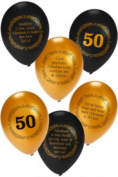 Helium ballon Abraham metallic zwart goud