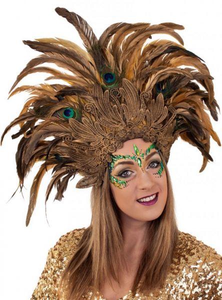 Indians feather headdress Rio de Janeiro