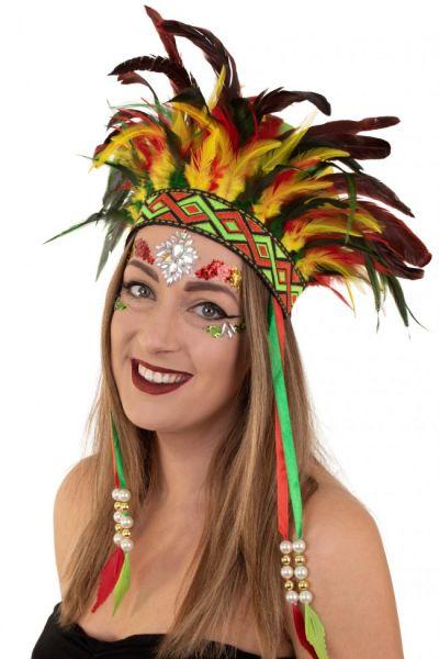 Indianen dans veren hoofdtooi Carnaval Limburg