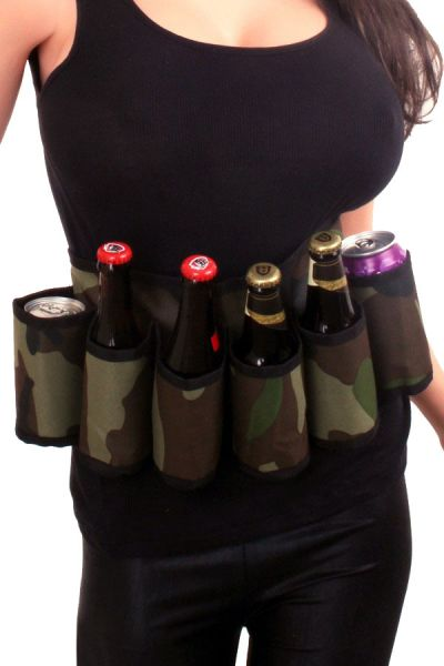 Militaire riem drankgordel camouflage print