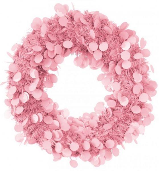 Deurkrans 45 cm Roze