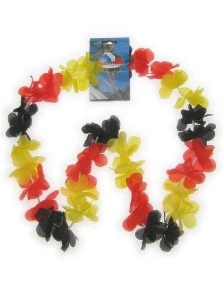 Hawaii slinger zwart rood geel 12 stuks