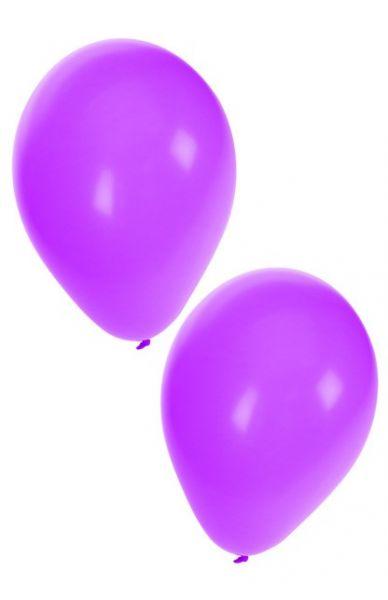 Paarse heliumballonnen