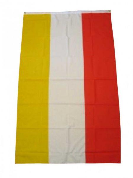 Oeteldonk Vlag rood wit geel 90 x 150 cm