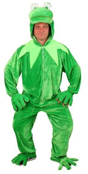 Grappig Dierenpak Kermit de Kikker met capuchon