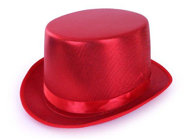 Hogehoed metallic rood