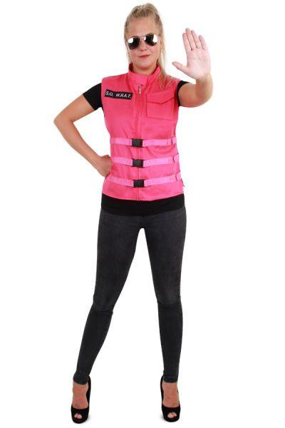 S.O. W.H.A.T roze dames vest pink