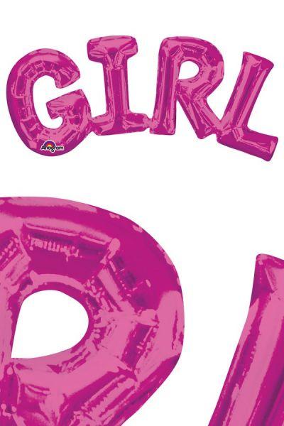 Folie ballon Girl roze