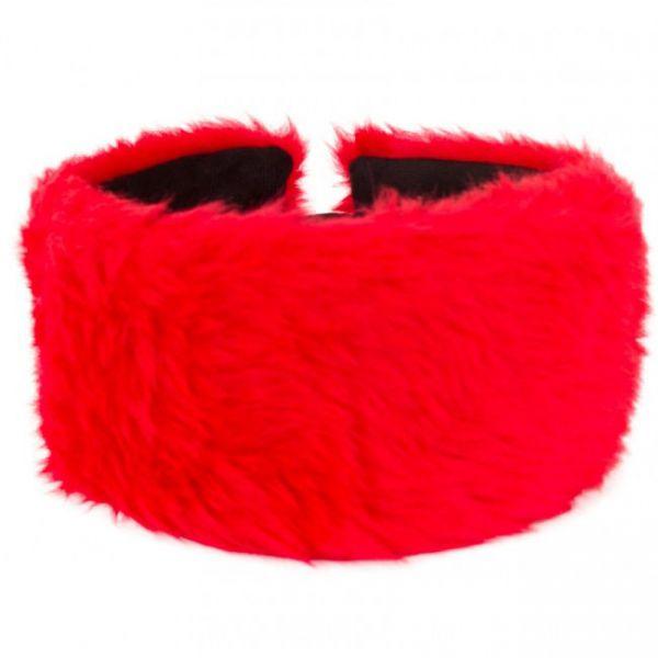 Hoofdband rood pluche