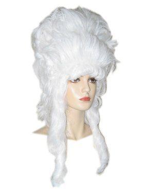 Hofdame pruik hoog model wit