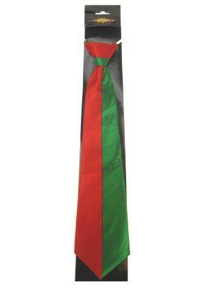 Stropdas rood groene streep