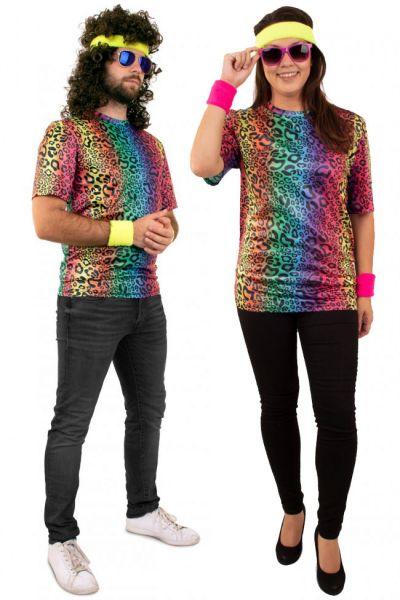 Hippie neon T-shirt panter print