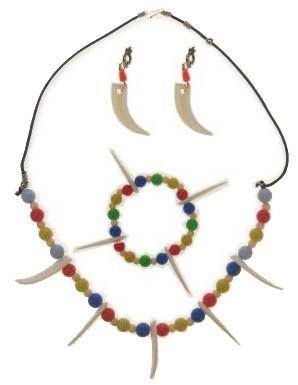 Indianen oorringen ketting en armband
